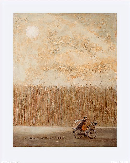 A Lovely Night For A Drive by Sam Toft 40x50cm Art Print