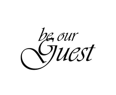 Be Our Guest 40x50cm Art Print