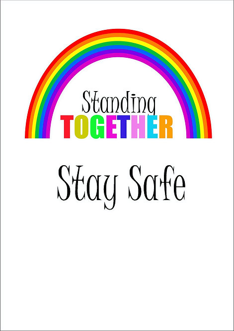 Standing Together Stay Safe Greeting Card