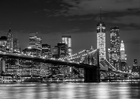 Brooklyn Bridge At Night A4 Gloss Paper Magnet