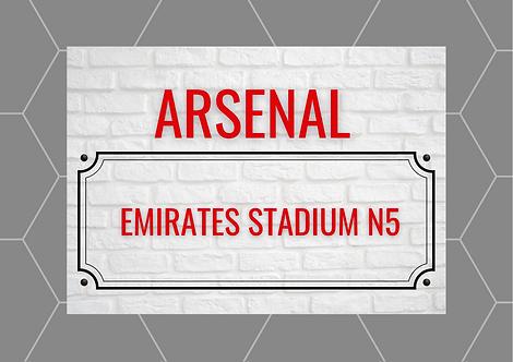 Arsenal Brick Sign A5 Gloss Paper Magnet