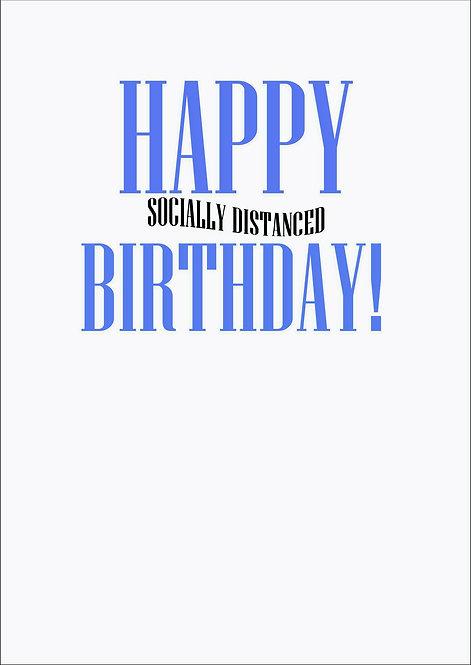 Happy Socially Distanced Birthday Greeting Card