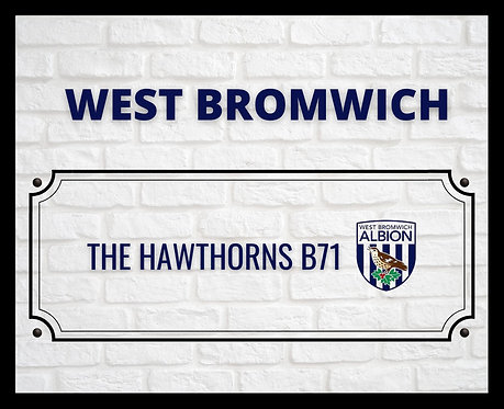 West Bromwich Brick Sign 40x50cm Art Print