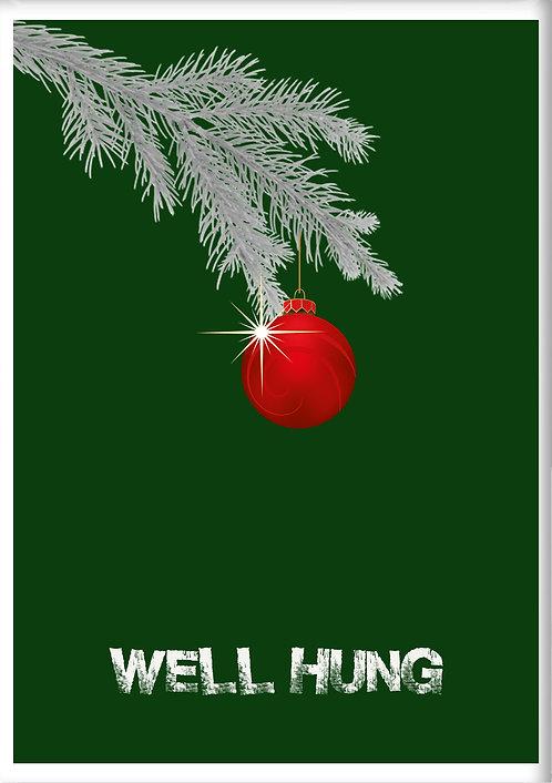 Well Hung Christmas Fridge Magnet