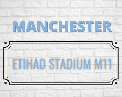 Manchester Brick Sign A4 Art Print