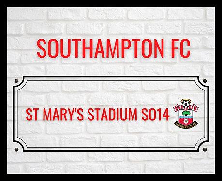 Southampton FC Brick Sign 4x6 inches Art Print