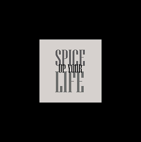 Spice Up Your Life 30x30cm Art Print in a Black Mount.