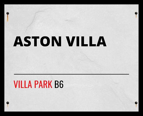 Aston Villa Football Club Street Sign 40x50cm Art Print
