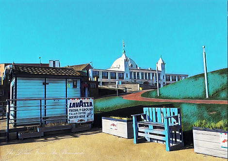 Dome From The Promenade Whitley Bay A5 Gloss Paper Magnet