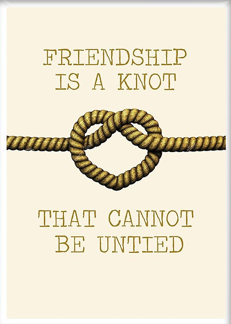 Friendship Is A Knot That Cannot Be Untied Fridge Magnet