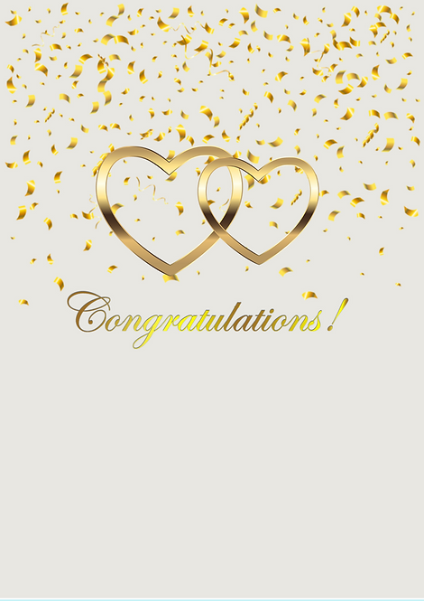 Congratulations A5 Gloss Paper Magnet