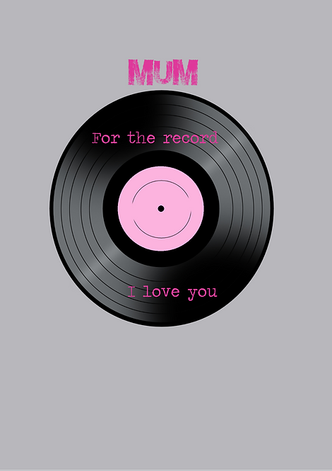 Mum For The Record I Love You A5 Gloss Paper Magnet