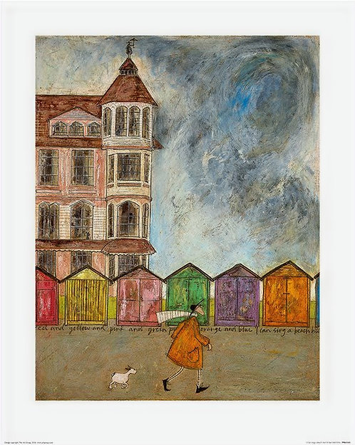 I Can Sing A Beach Hut by Sam Toft 40x50cm Art Print
