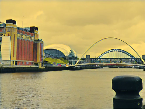 The Tyne Bridges 40x50cm Art Print