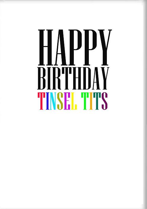 Happy Birthday Tinsel Tits Fridge Magnet