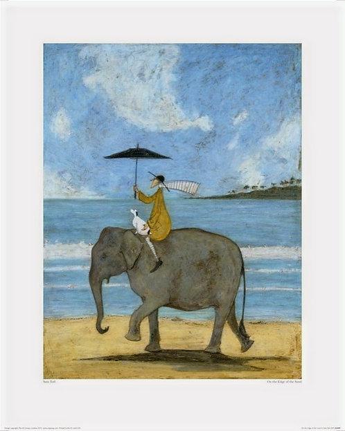 On The Edge Of Sand by Sam Toft 40x50cm Art Print