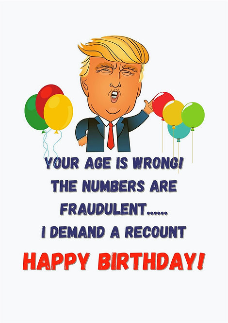 Your Age Is Wrong Greeting Card