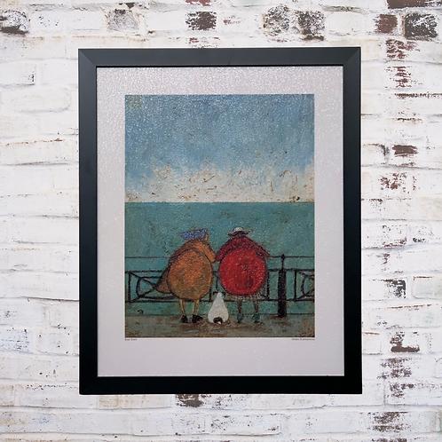 Doris Earwigging By Sam Toft In Oil Paint Effect