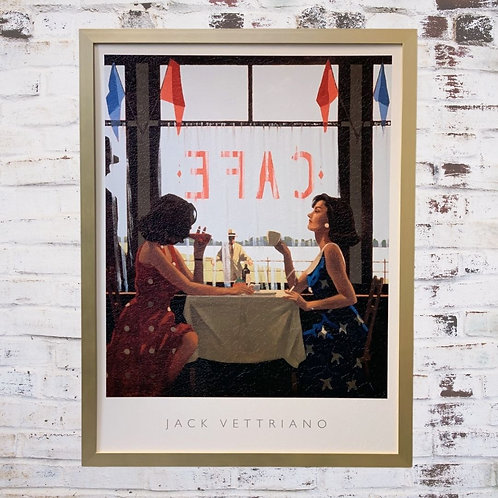 Café Days Jack Vettriano In Oil Paint Effect
