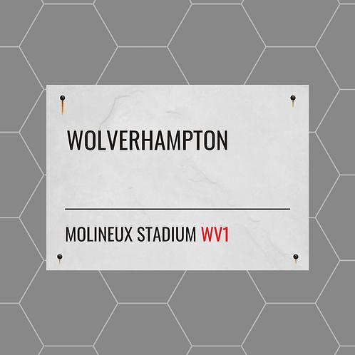 Wolverhampton Street Sign A6 Gloss Paper Magnet