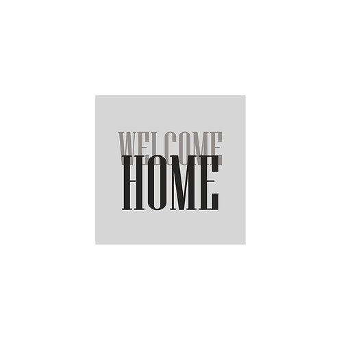 Welcome Home 30x30cm Art Print in a White Mount