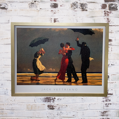 The Singing Butler By Jack Vettriano In Oil Paint Effect