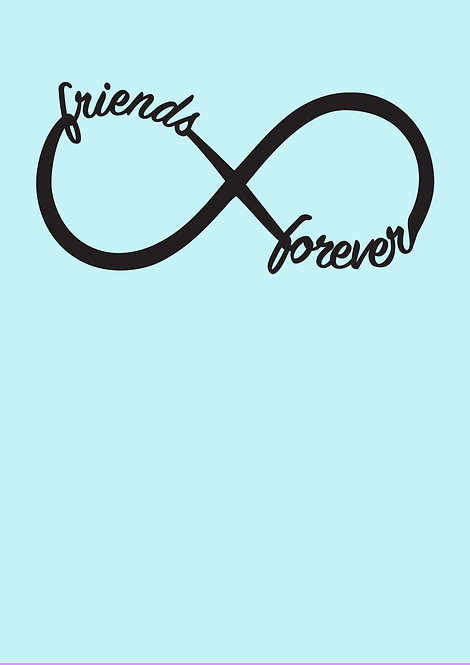 Forever Friends A4 Gloss Paper Magnet