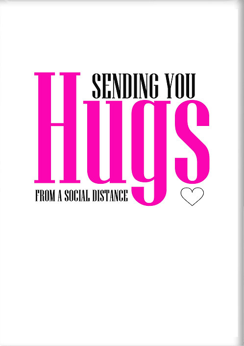 Sending You Hugs From A Social Distance Fridge Magnet