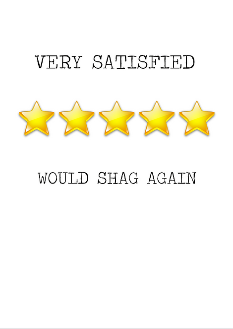 Very Satisfied Would Shag Again A6 Gloss Paper Magnet