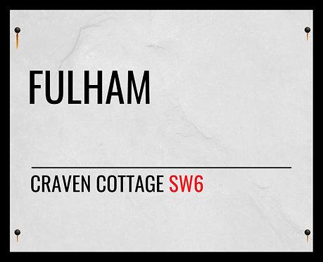 Fulham FC Street Sign 40x50cm Art Print
