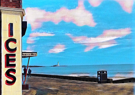 Rendezvous Cafe Whitley Bay Greeting Card