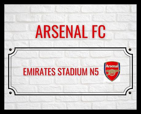 Arsenal FC Brick Sign A4 Art Print