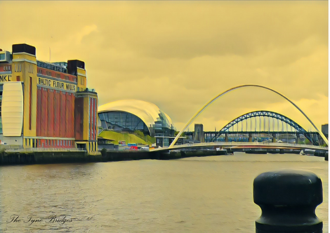 The Tyne Bridges A5 Gloss Paper Magnet