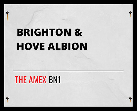 Brighton & Hove Albion Street Sign 24x30cm Art Print