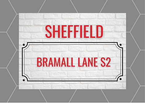 Sheffield Brick Sign A6 Gloss Paper Magnet