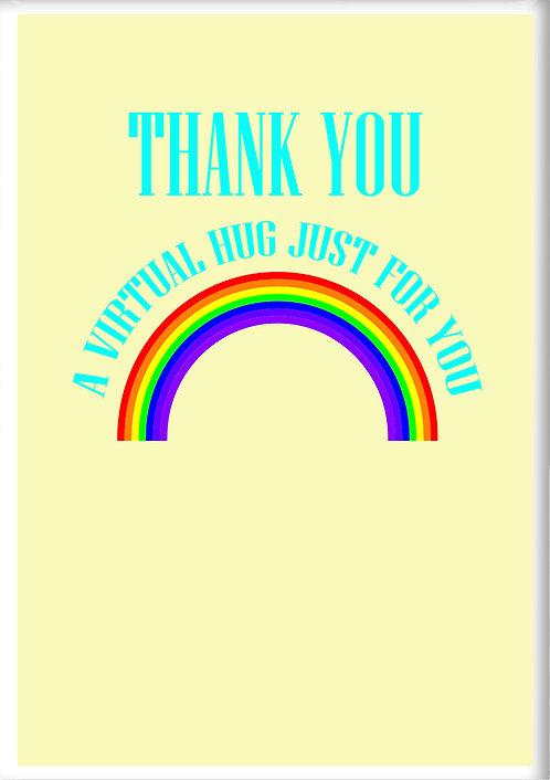 Thank You A Virtual Hug Fridge Magnet