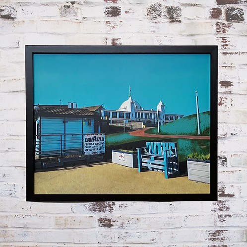 Dome From The Promenade 40x50cm Framed Canvas
