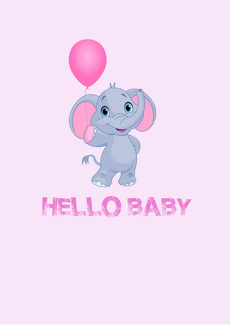 Hello Baby A4 Gloss Paper Magnet