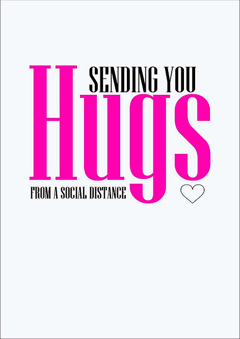 Sending You Hugs Greeting Card