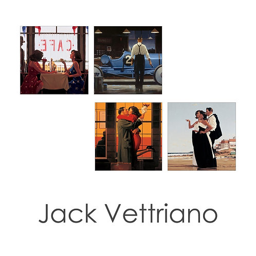 The Jack Vettriano Art Card Collection Pack of 4 Cards