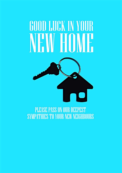 Good Luck In Your New Home Greeting Card