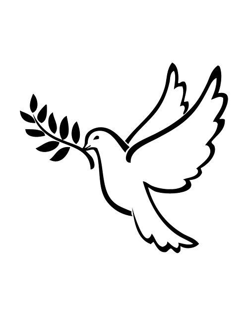 Dove Of Peace 4x6 inches Art Print