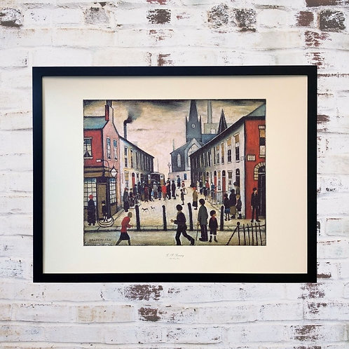 The Fever Van By L S Lowry In Oil Paint Effect