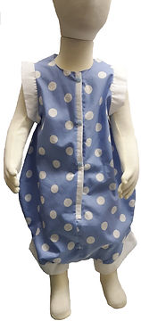 Blue and dot onesie