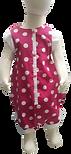 Cotton Dot Pink onesie