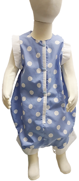 Cotton Dot blue onesie