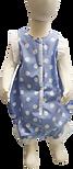 Cotton Dot blue onesie