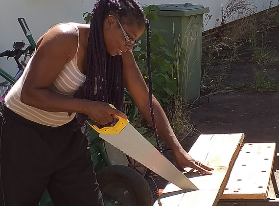 More sawing