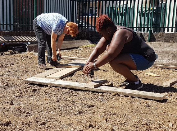 Making the raised beds