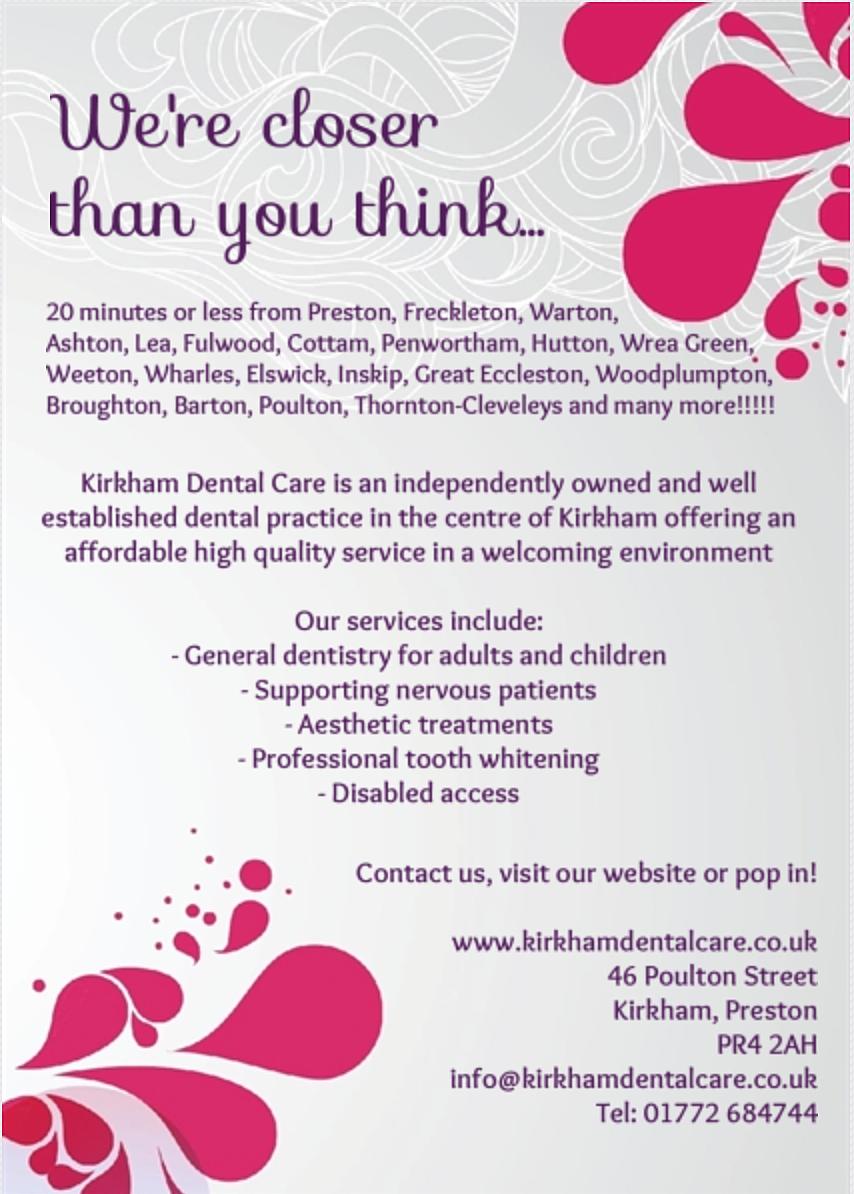 kirkham dental care dentist in kirkham 8807